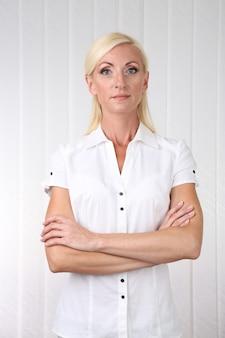 Portret van een zakenvrouw op kantoor