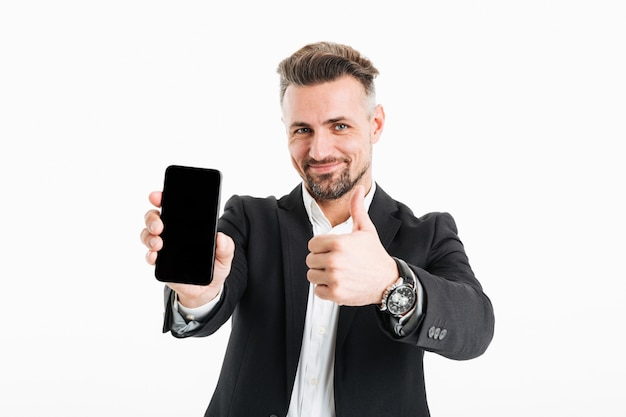 Portret van een zelfverzekerde volwassen zakenman