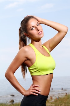 Portret van fitness vrouw