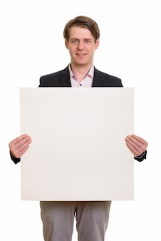 Portret van gelukkige blanke zakenman