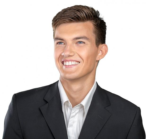 Portret van gelukkige lachende man