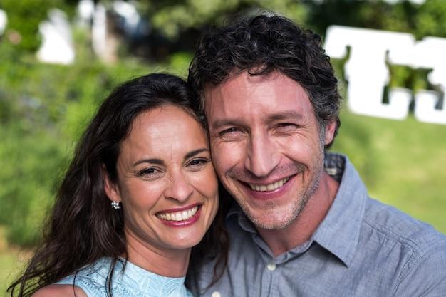Portret van gelukkige paar