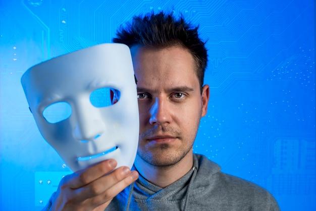 Portret van hacker met masker