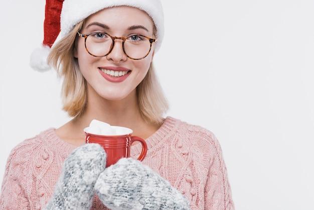 Portret van het jonge vrouw glimlachen
