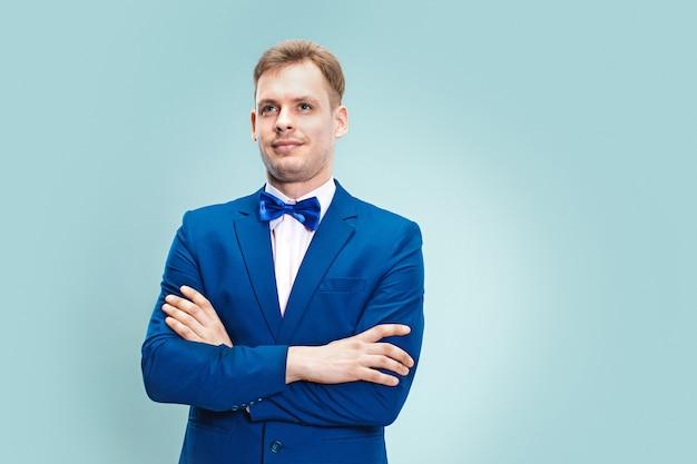 Portret van knappe en elegante zakenman