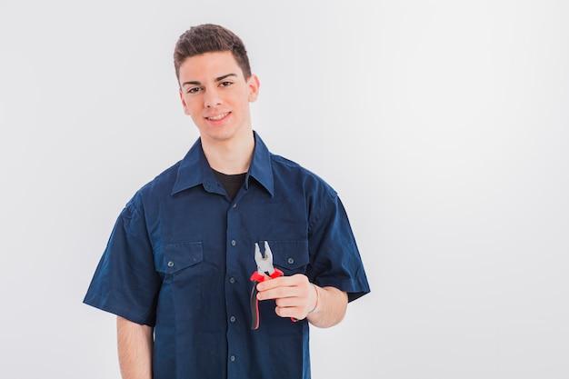 Portret van loodgieter
