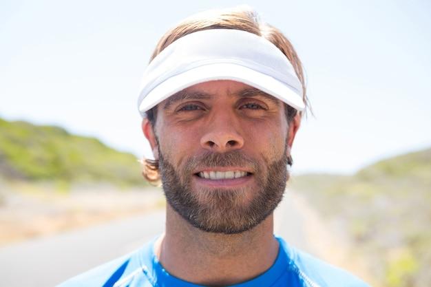 Portret van mannelijke atleet