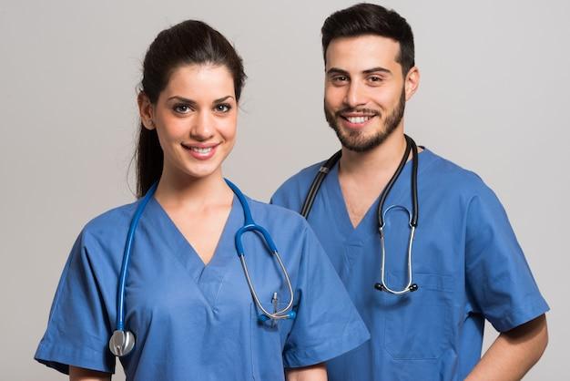 Portret van medische hulpverleners