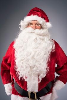 Portret van minnelijke kerstman