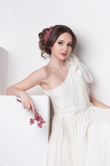 Portret van mooie bruid.