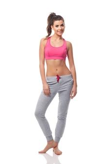 Portret van mooie fitness vrouw