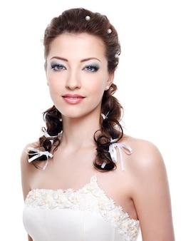 Portret van mooie jonge bruid