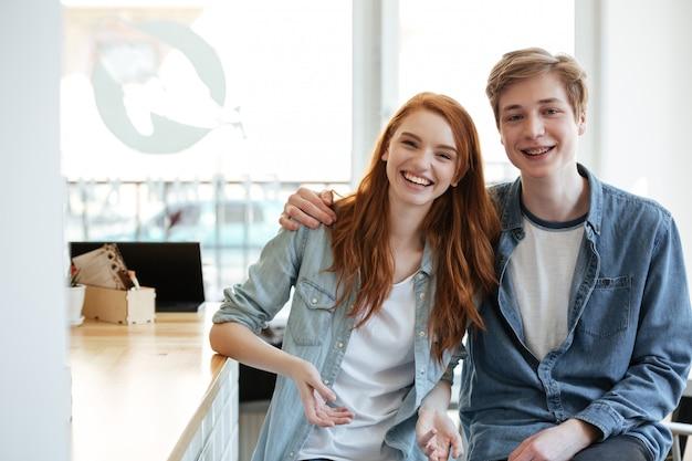 Portret van mooie paar
