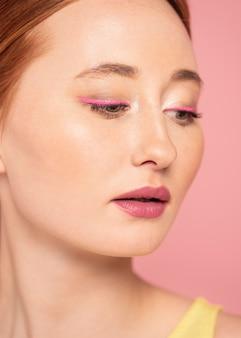 Portret van mooie vrouw close-up