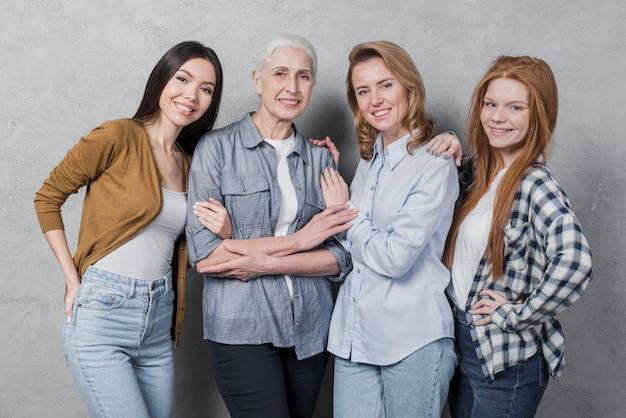 Portret van mooie vrouwen samen