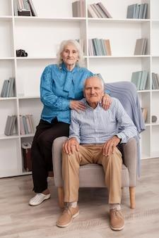 Portret van oudere man en vrouw samen