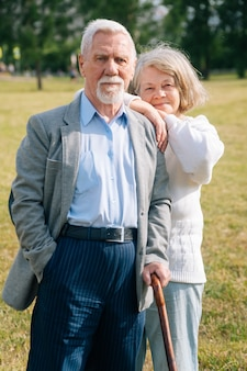 Portret van oudere man en vrouw