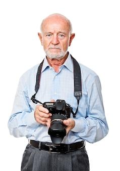 Portret van oudste met camera