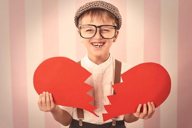 Portret van retro kleine hartenbreker