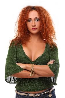 Portret van roodharige vrouw