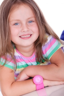 Portret van schattig en gelukkig meisje