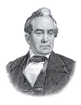 Portret van silas wright geïsoleerd op witte achtergrond
