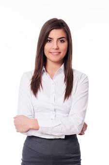 Portret van slimme vrouw