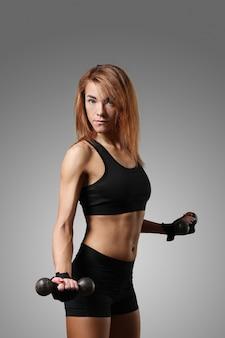 Portret van sportieve vrouw