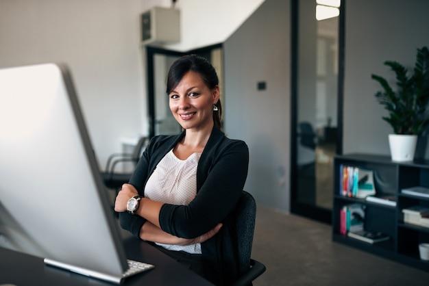 Portret van succesvolle zakenvrouw.