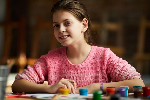 Portret van tiener tekening