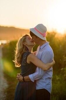 Portret van verliefde man en vrouw
