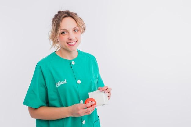 Portret van verpleegster