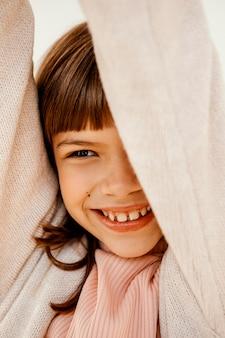 Portret van vrij klein meisje