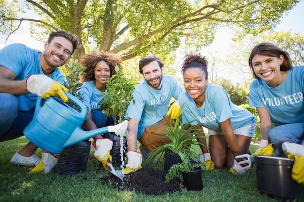 Portret van vrijwilligersgroep planten