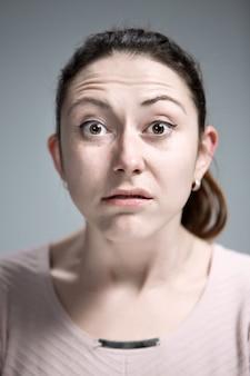Portret van weerzinwekkende vrouw