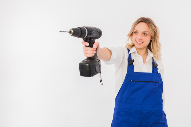 Portret van werkneemster