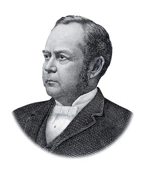 Portret van william windom geïsoleerd op witte achtergrond