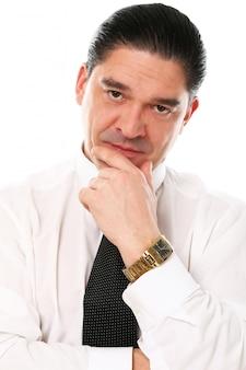 Portret van zakenman van middelbare leeftijd