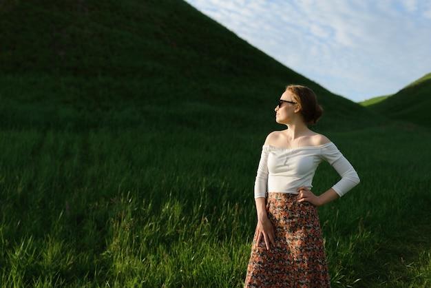 Portret vrouw met zonnebril