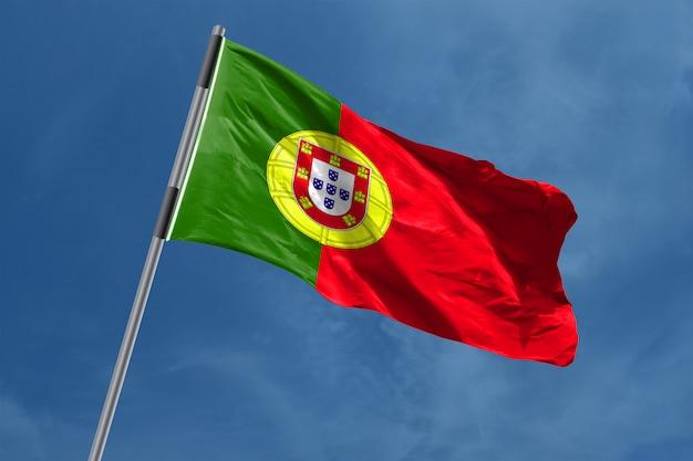 Portugal vlag zwaaien