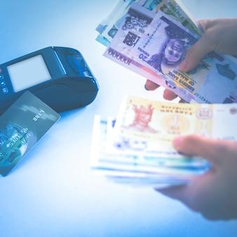Pos-creditcard afwikkeling in plaats van contant betaling