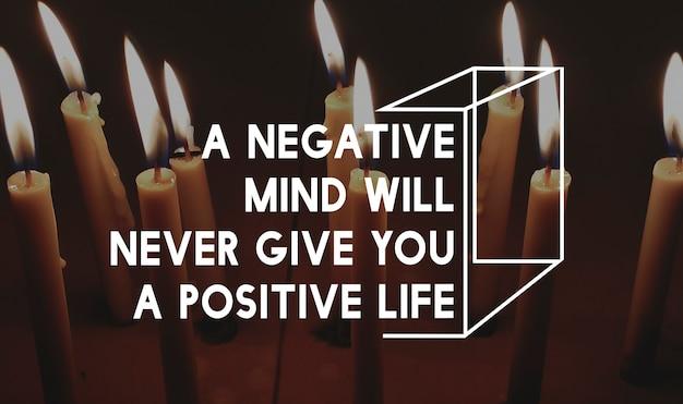Positieve mentaliteit houding spiritueel woord