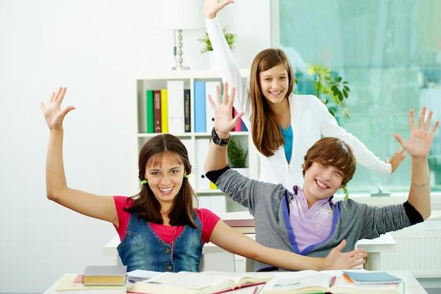 Positieve tieners spelen
