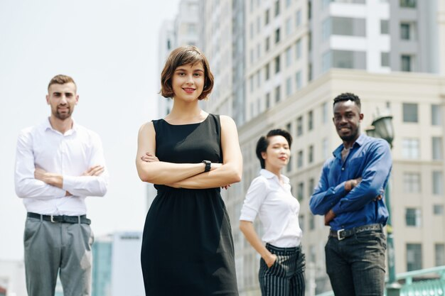 Positieve vertrouwen zakenvrouw