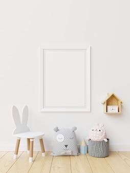 Poster in kinderkamer interieur.
