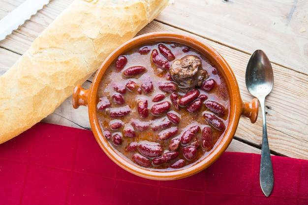 Potage food typisch in la rioja (spaans)