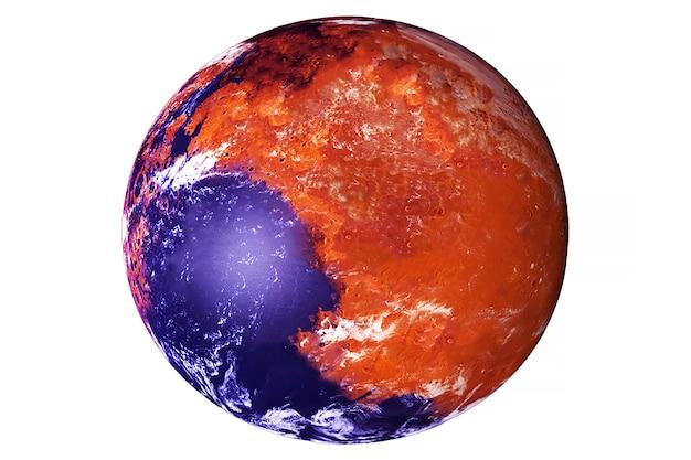 Potentieel levende planeet mars. elementen van deze afbeelding zijn geleverd door nasa. hoge kwaliteit foto