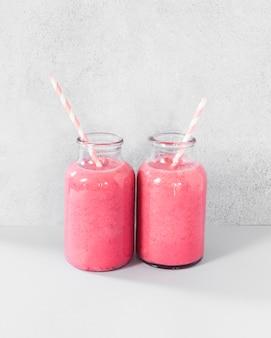 Potjes met grapefruit smoothie