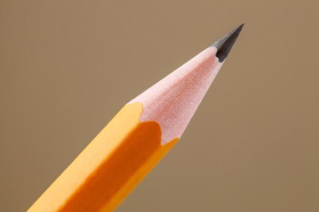 Potlood eenvoudige, geslepen punt van grafietkern, close-up macroweergave