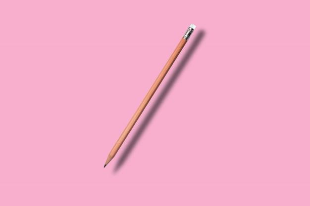 Potlood op colore achtergrond